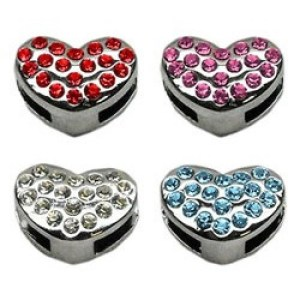 Slider Puffy Heart Pet Collar Charm | The Pet Boutique