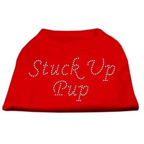 Stuck Up Pup Rhinestone Dog Shirt - Red   The Pet Boutique