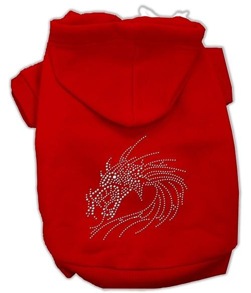 Studded Dragon Rhinestone Dog Hoodie - Red | The Pet Boutique