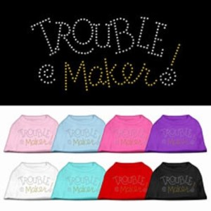 Trouble Maker Rhinestone Dog Shirt | The Pet Boutique