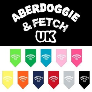 Aberdoggie UK Screen Print Pet Bandana | The Pet Boutique