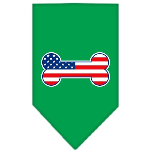 Bone Flag American Screen Print Pet Bandana - Emerald Green | The Pet Boutique