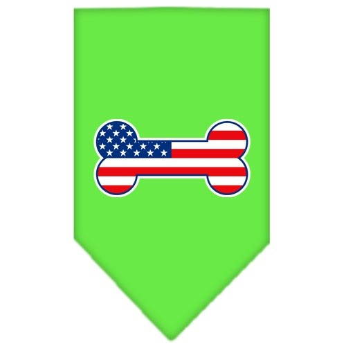 Bone Flag American Screen Print Pet Bandana - Lime Green | The Pet Boutique