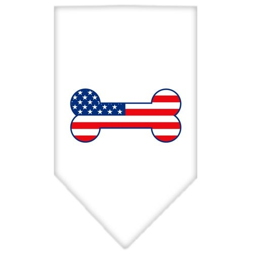 Bone Flag American Screen Print Pet Bandana - White | The Pet Boutique
