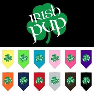 Irish Pup Screen Print Pet Bandana | The Pet Boutique