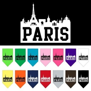 Paris Skyline Screen Print Pet Bandana | The Pet Boutique