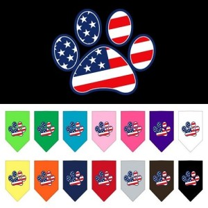 Patriotic Paw Screen Print Pet Bandana | The Pet Boutique