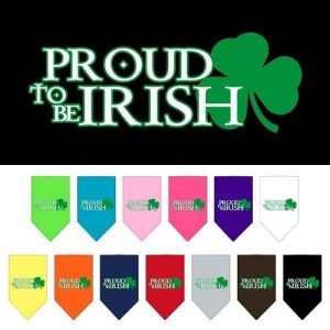 Proud To Be Irish Screen Print Pet Bandana | The Pet Boutique