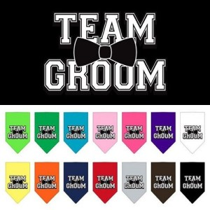 Team Groom Screen Print Pet Bandana | The Pet Boutique