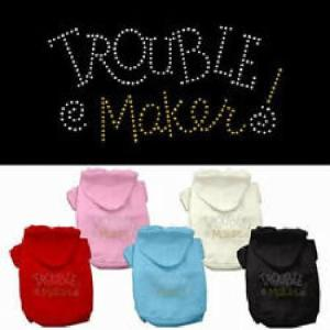 Trouble Maker Rhinestone Dog Hoodie | The Pet Boutique