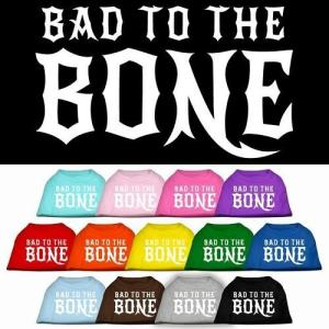 Bad to the Bone Screen Print Dog Shirt   The Pet Boutique