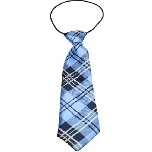 Big Dog Plaid Necktie - Blue | The Pet Boutique