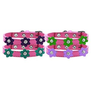 Flower Premium Dog Collar - Bright Pink | The Pet Boutique