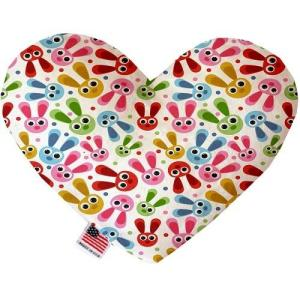 Funny Bunnies Heart Dog Toy   The Pet Boutique