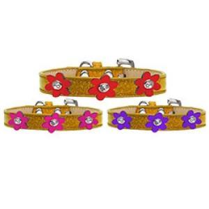 Metallic Flower Ice Cream Dog Collar - Gold | The Pet Boutique