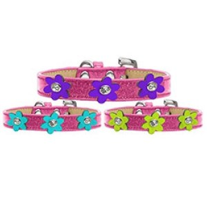 Metallic Flower Ice Cream Dog Collar - Pink | The Pet Boutique