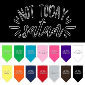 Not Today Satan Screen Print Pet Bandana | The Pet Boutique