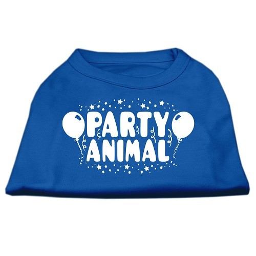 Party Animal Screen Print Dog Shirt - Blue | The Pet Boutique