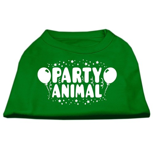 Party Animal Screen Print Dog Shirt - Emerald Green | The Pet Boutique