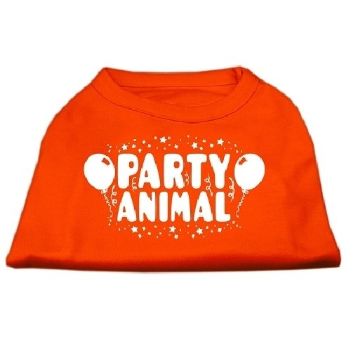 Party Animal Screen Print Dog Shirt - Orange | The Pet Boutique