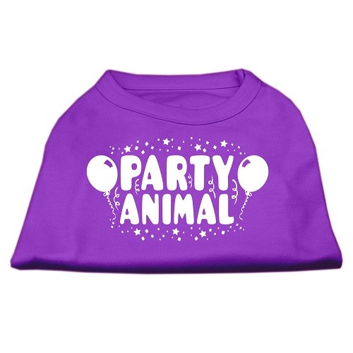Party Animal Screen Print Dog Shirt - Purple | The Pet Boutique