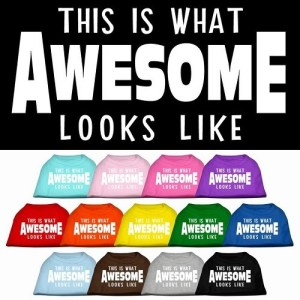 This is What Awesome Looks Like Screen Print Dog Shirt | The Pet Boutique