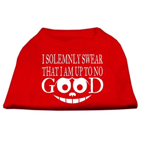 Up to No Good Screen Print Dog Shirt - Red | The Pet Boutique