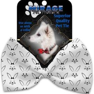 Bunny Face Pet Bow Tie Collar Accessory with Velcro   The Pet Boutique