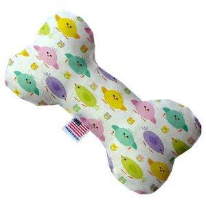 Easter Chickadees Canvas Bone Dog Toy   The Pet Boutique