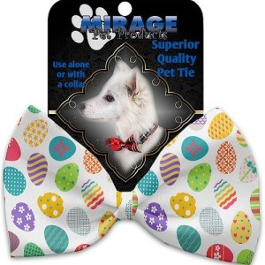 Easter Eggs Pet Bow Tie Collar Accessory with Velcro | The Pet Boutique