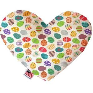 Easter Eggs Stuffing Free Heart Dog Toy   The Pet Boutique