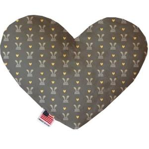 Gray Bunnies Heart Dog Toy   The Pet Boutique