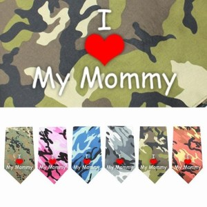 I Love Mommy Screen Print Pet Bandana | The Pet Boutique