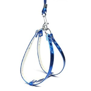 Metallic Step-In Dog Harness - Blue | The Pet Boutique