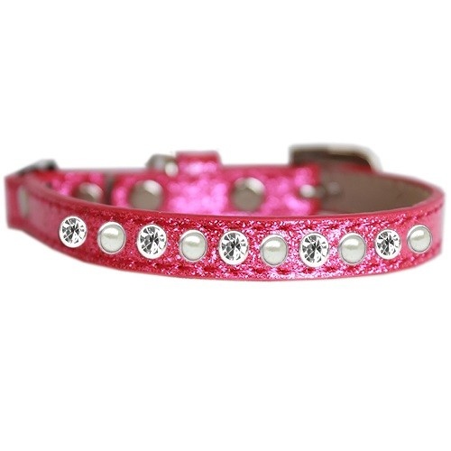 Pearl and Clear Jewel Ice Cream Cat Safety Collar - Pink   The Pet Boutique