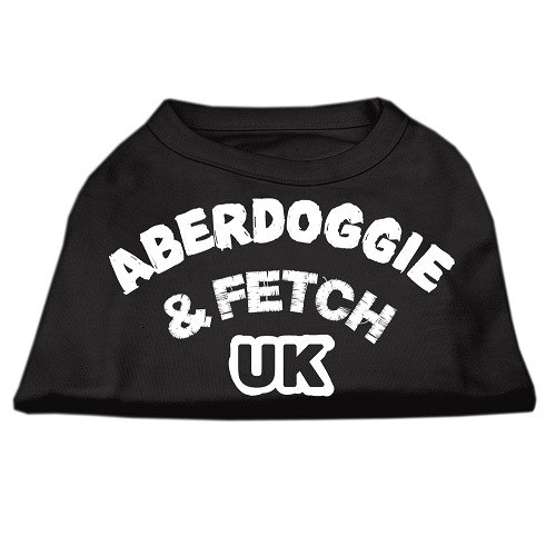 Aberdoggie UK Screen Print Dog Shirt - Black | The Pet Boutique