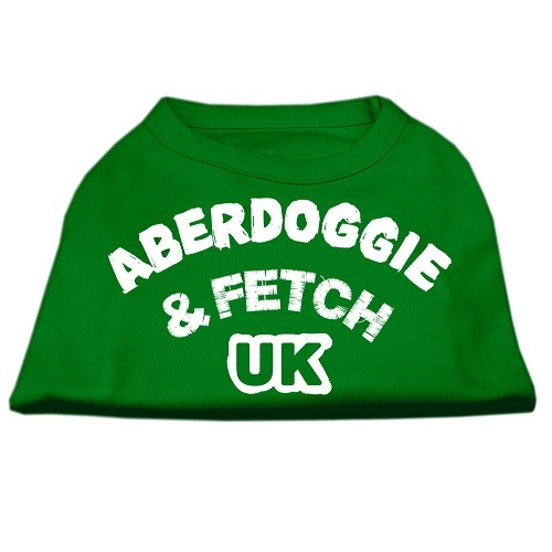 Aberdoggie UK Screen Print Dog Shirt - Emerald Green | The Pet Boutique