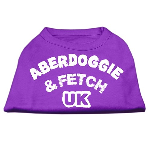 Aberdoggie UK Screen Print Dog Shirt - Purple | The Pet Boutique