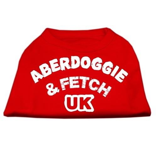 Aberdoggie UK Screen Print Dog Shirt - Red | The Pet Boutique