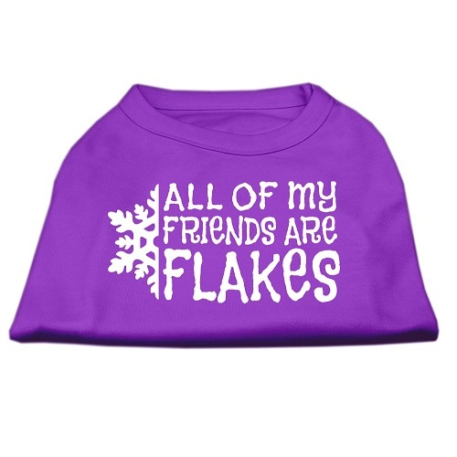 All My Friends Are Flakes Screen Print Pet Shirt - Purple | The Pet Boutique