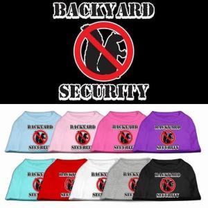 Backyard Security Screen Print Dog Shirt | The Pet Boutique