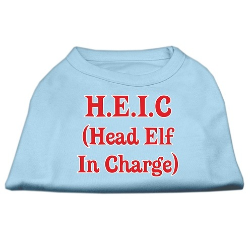 Head Elf In Charge Screen Print Pet Shirt - Baby Blue | The Pet Boutique