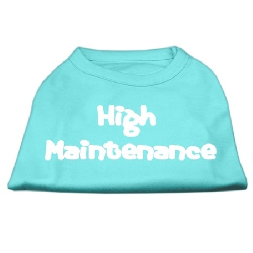 High Maintenance Screen Print Pet Shirt - Aqua   The Pet Boutique