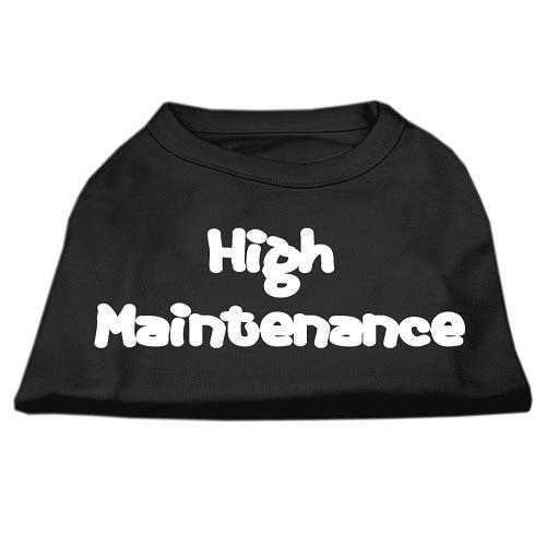 High Maintenance Screen Print Pet Shirt - Black   The Pet Boutique
