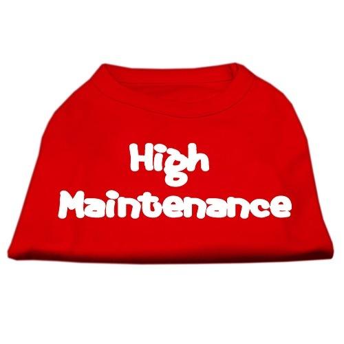 High Maintenance Screen Print Pet Shirt - Red | The Pet Boutique