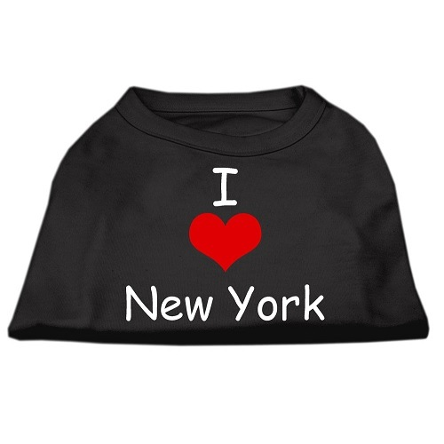 I Love New York Screen Print Pet Shirt - Black | The Pet Boutique