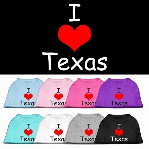 I Love Texas Screen Print Pet Shirt | The Pet Boutique