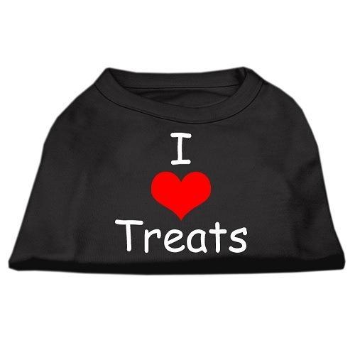 I Love Treats Screen Print Pet Shirt - Black   The Pet Boutique