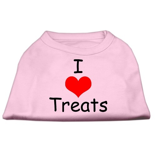 I Love Treats Screen Print Pet Shirt - Pink | The Pet Boutique