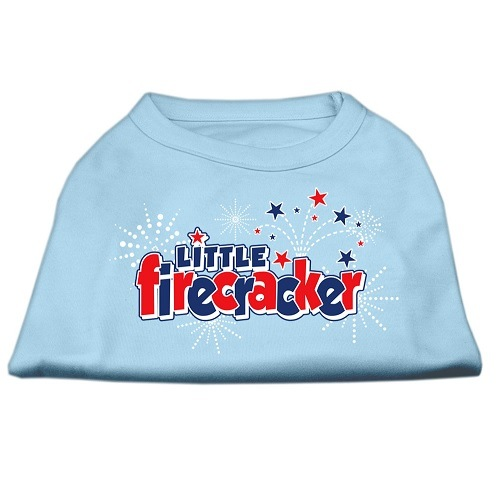 Little Firecracker Screen Print Pet Shirt - Baby Blue | The Pet Boutique